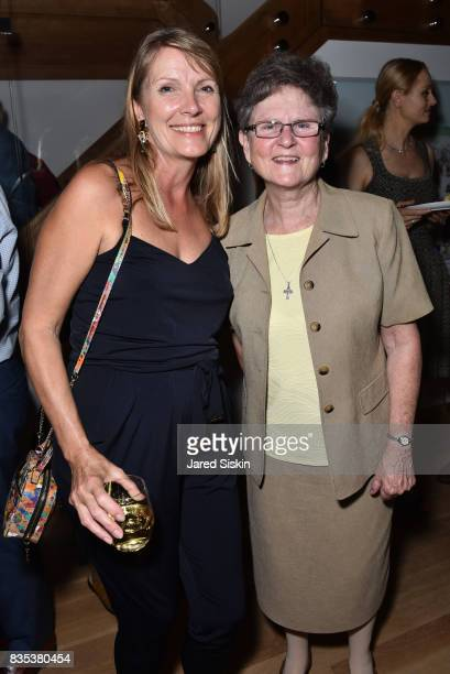 Guest and Sister Tesa Fitzgerald attend ARTrageous Gala Art Auction benefitting Hour Children at a Private Residence on August 18 2017 in Southampton...