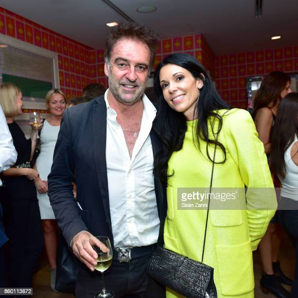 Guest and Sophie Bonvin attend the launch of The Collector Geneva's Sophie Bonvin Code Collection in Collaboration with artist Bill Claps at Crosby...