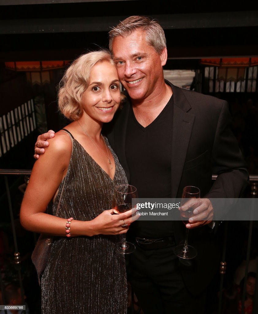 Guest and Tim Toth attend WE tv's LOVE BLOWS Premiere Event at Flamingo Rum Club on August 16, 2017 in Chicago, Illinois.