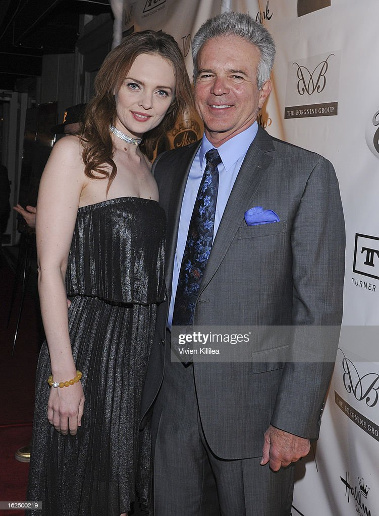A guest and Tony Denison attend The Borgnine Movie Star Gala at Sportsmen's Lodge Event Center on February 23, 2013 in Studio City, California.