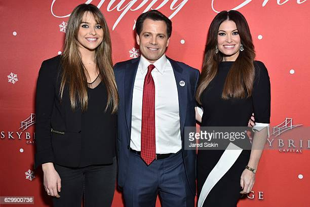 Guest Anthony Scaramucci and Kimberly Guilfoyle attend SkyBridge Capital Holiday Celebration at Hunt Fish Club on December 14 2016 in New York City