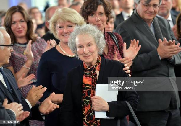 Guest applaud Margaret Atwood during the 'Peace Prize of the German Book Trade' ceremony of German Publishers and Booksellers Association at St...