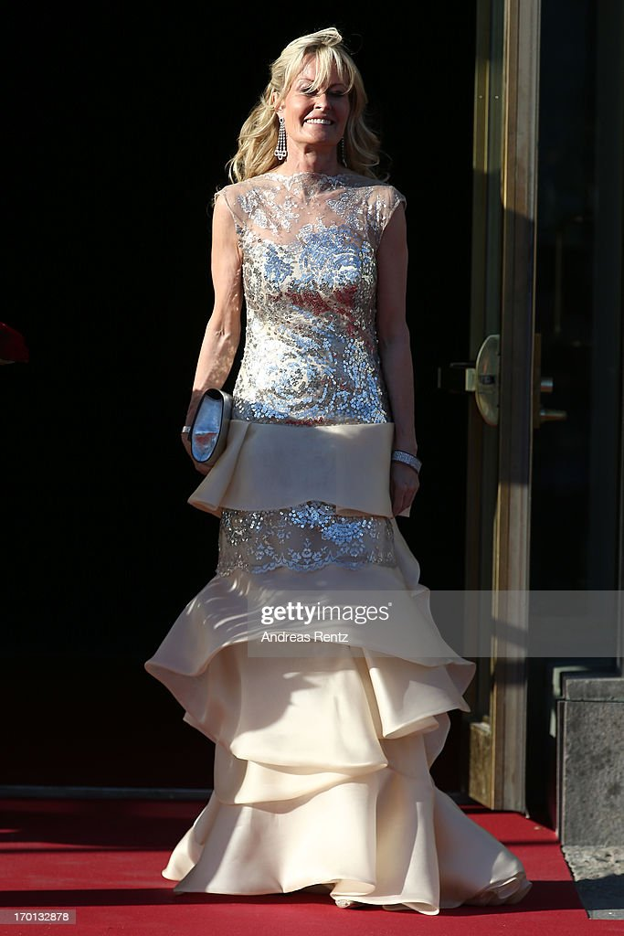 A guest arrive at a private dinner on the eve of the wedding of Princess Madeleine and Christopher O'Neill hosted by King Carl XVI Gustaf and Queen Silvia at The Grand Hotel on June 7, 2013 in Stockholm, Sweden.