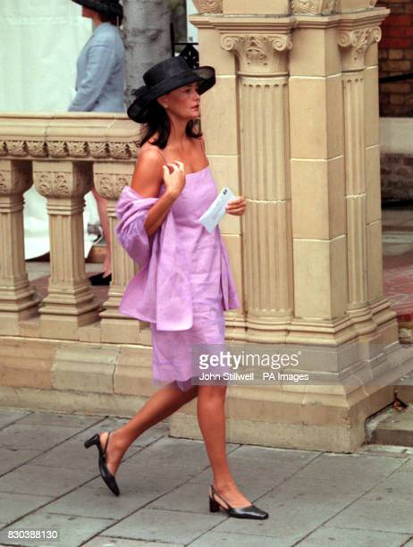 A guest arrives at the Greek Orthodox Cathedral of St Sophia in Bayswater west London for Princess Alexia's wedding to Carlos Morales Quintana of...
