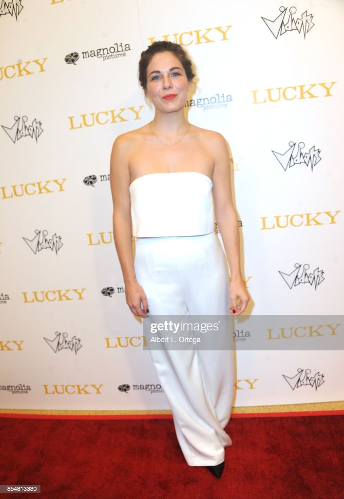 Guest arrives for the Premiere Of Magnolia Pictures' 'Lucky' held at Linwood Dunn Theater on September 26, 2017 in Los Angeles, California.