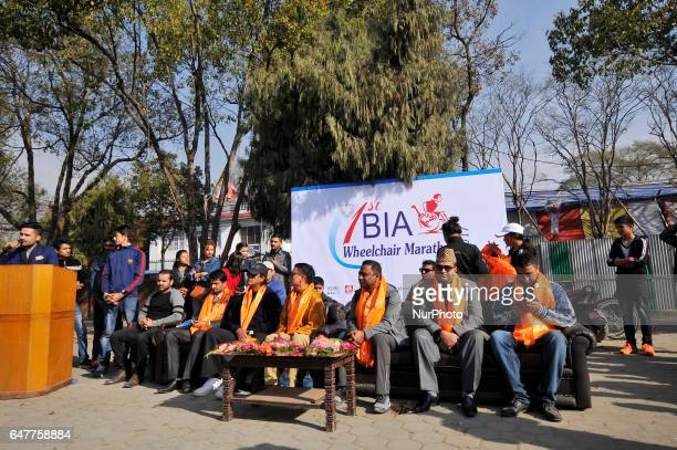 Guest arrvies for the Prize distrubution for the Nepalese wheelchair racer competing in the 1st Bodhisattvas In Action Wheelchair 4Km Marathon...