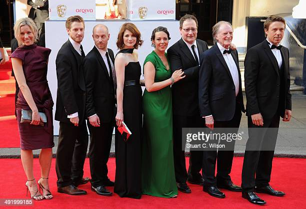 Guest Arthur Darvil Tom Bidwell Jodie Whittaker Olivia Coleman guest David Bradley and Andrew Buchan attend the Arqiva British Academy Television...