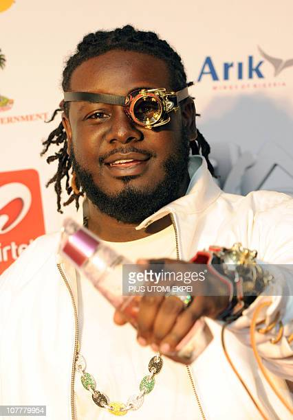 US guest artist and contemporary rap icon TPain performs on December 11 2010 at the MTV Africa Music Awards ceremony in Lagos The awards ceremony...
