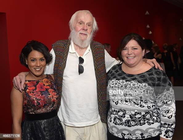 Brenda Casanave artist John Baldessari and Elizabeth Power Robison attend the 2015 REDCAT Gala Honoring Jamie And Michael Lynton And Gabriel Orozco...