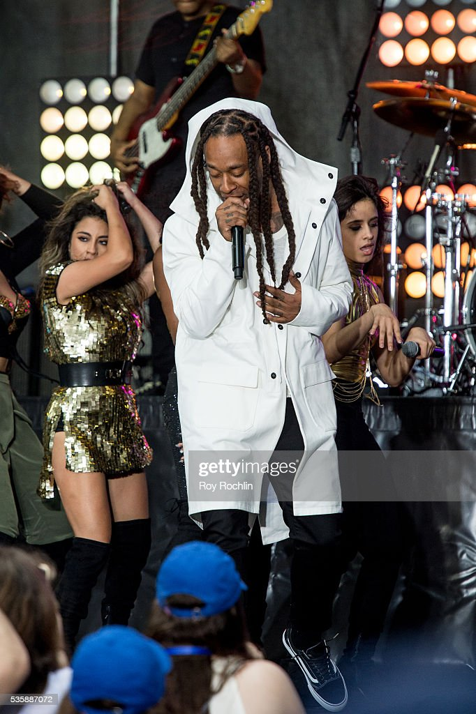 Guest Artist <a gi-track='captionPersonalityLinkClicked' href=/galleries/search?phrase=Ty+Dolla+Sign&family=editorial&specificpeople=8330457 ng-click='$event.stopPropagation()'>Ty Dolla Sign</a> performs during Fifth Harmony Performance On NBC's 'Today' at Rockefeller Plaza on May 30, 2016 in New York City.