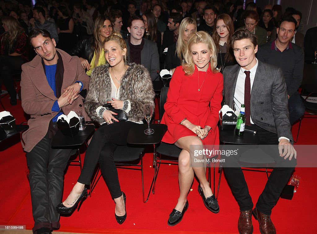 Guest, Ashley Roberts, Pixie Lott and Oliver Cheshire attend the Collabo8te Connected by NOKIA Premiere at Regent Street Cinema on February 12, 2013 in London, England.