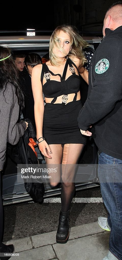 Guest at Alibi night club in Dalston for Harry Styles 19th birthday celebrations on February 1, 2013 in London, England.
