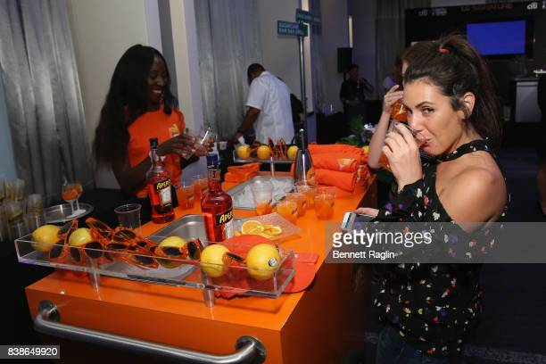 A guest at the Aperol table at Citi Taste Of Tennis at W New York on August 24 2017 in New York City