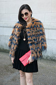 A guest at the Chloe show on day 6 of Paris Collections Women on March 08 2015 in Paris France
