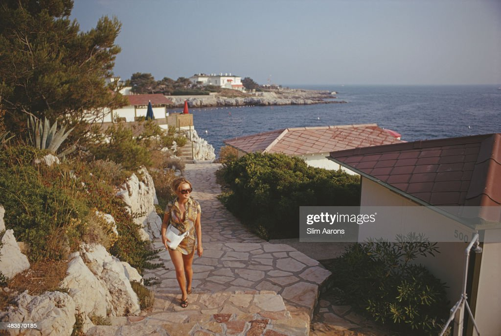 A guest at the Hotel du CapEdenRoc in Antibes on the French Riviera August 1969