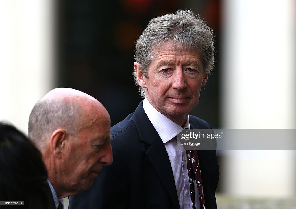 Guest attend a memorial service to journalist and former president of the MCC, Christopher Martin-Jenkins MBE at St Paul's Cathedral on April 16, 2013 in London, England.