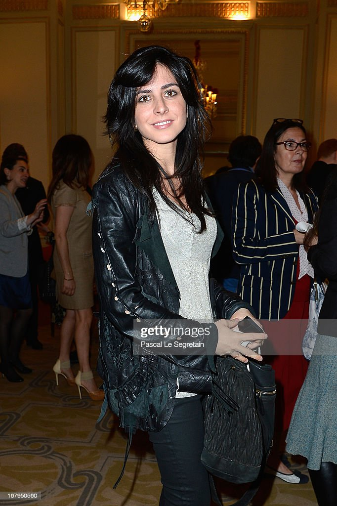 A guest attend the 2013 Launch of the Dorchester Collection Fashion Prize 2013 at Hotel Plaza Athenee on May 3, 2013 in Paris, France.