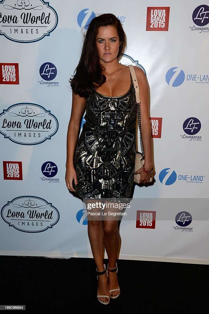 A guest attend the Lova World Images Closing Party during the 66th Annual Cannes Film Festival at Baoli Beach on May 22, 2013 in Cannes, France.