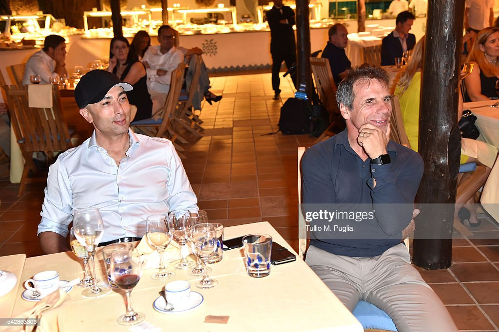 Guest attend the Welcome Dinner prior to The Costa Smeralda Invitational golf tournament at Pevero Golf Club - Costa Smeralda on June 24, 2016 in Olbia, Italy.