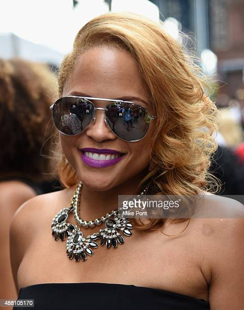 A guest attends 2015 Essence Street Style Block Party on September 13 2015 in New York City