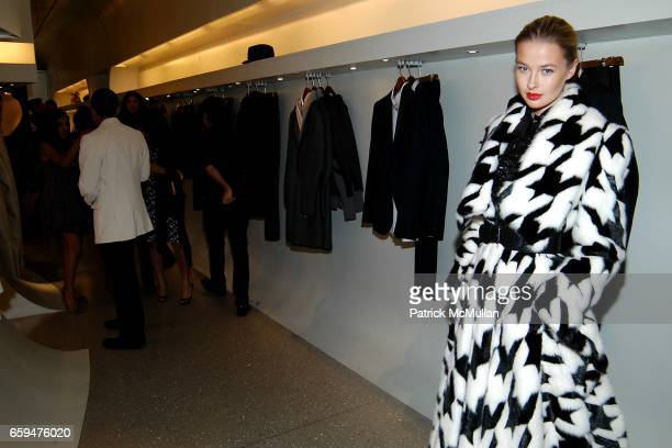 Guest attends ALEXANDER MCQUEEN Fashion's Night Out at Alexander McQueen Store on September 10 2009 in New York