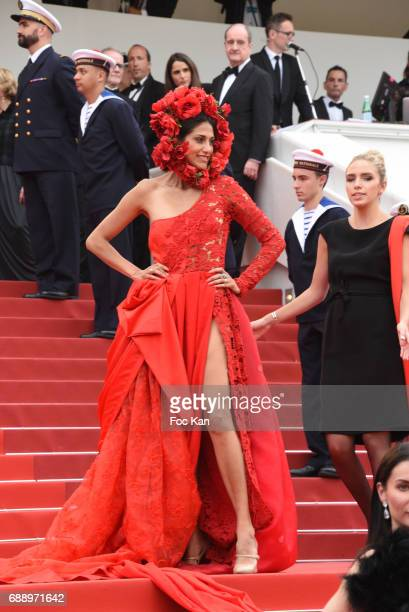 A guest attends 'Amant Double ' Red Carpet Arrivals during the 70th annual Cannes Film Festival at Palais des Festivals on May 26 2017 in Cannes...