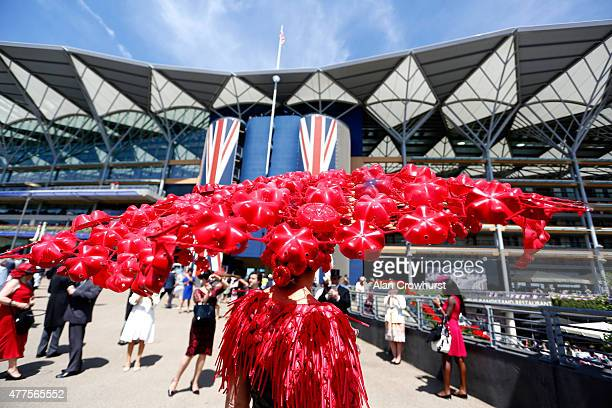 A guest attends day 3 of Royal Ascot 2015 at Ascot racecourse on June 18 2015 in Ascot England