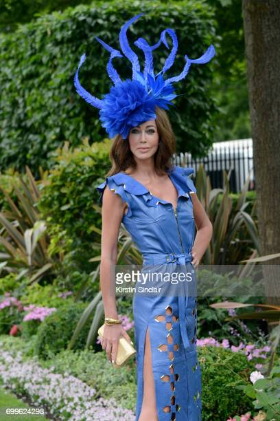 A guest attends day 3 of Royal Ascot at Ascot Racecourse on June 22 2017 in Ascot England