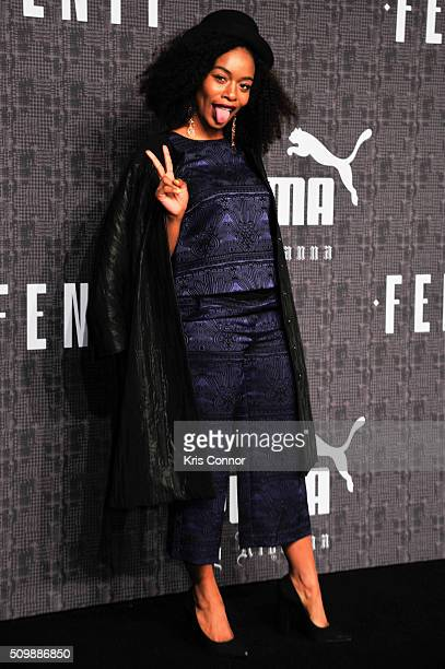 Singer SZA attends FENTY x PUMA by Rihanna at 23 Wall Street on February 12 2016 in New York City