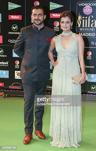 Guest attends IIFA Awards green carpet during the 17th edition of IIFA Awards the International Indian Film Academy Awards at Ifema on June 25 2016...
