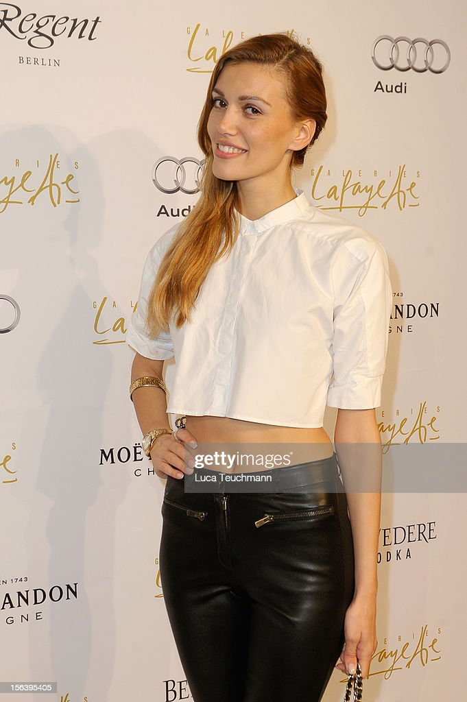 Laura Berlin attends Les Galeries Lafayettes Re-Open Ground Floor on November 14, 2012 in Berlin, Germany.