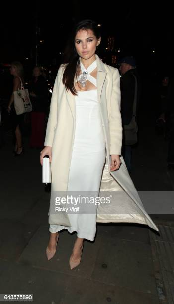 Guest attends LFW a/w 2017 London Fabulous Fund Fair at Roundhouse on Day 5 of London Fashion Week February 2017 on February 21 2017 in London England