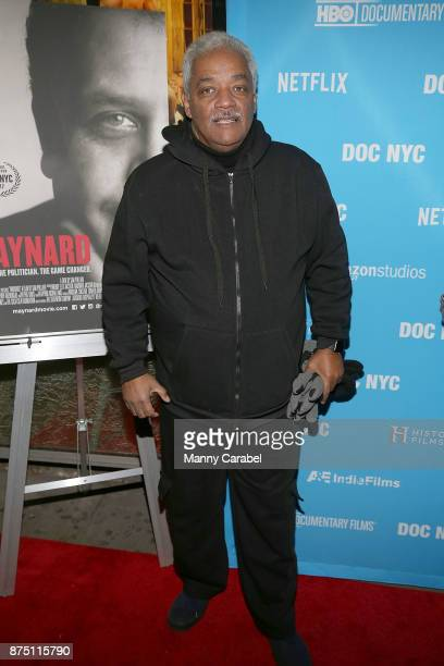 A guest attends the 2017 DOC NYC World Premiere of 'Maynard' at IFC Center on November 16 2017 in New York City