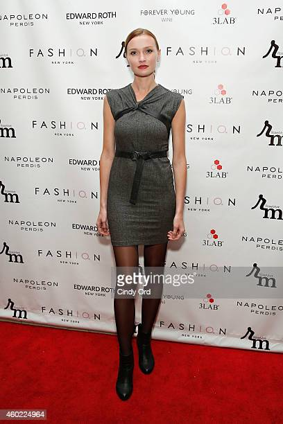 A guest attends the 2nd Annual NBA NFL and MLB Wives Holiday Soiree in support of benevolent charity 'Dress For Success' on December 9 2014 in New...