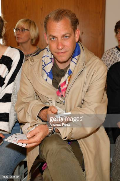 Guest attends the Antonia Goy Defile during 'Der Berliner Mode Salon' Spring/Summer 2018 at Kronprinzenpalais on July 5 2017 in Berlin Germany