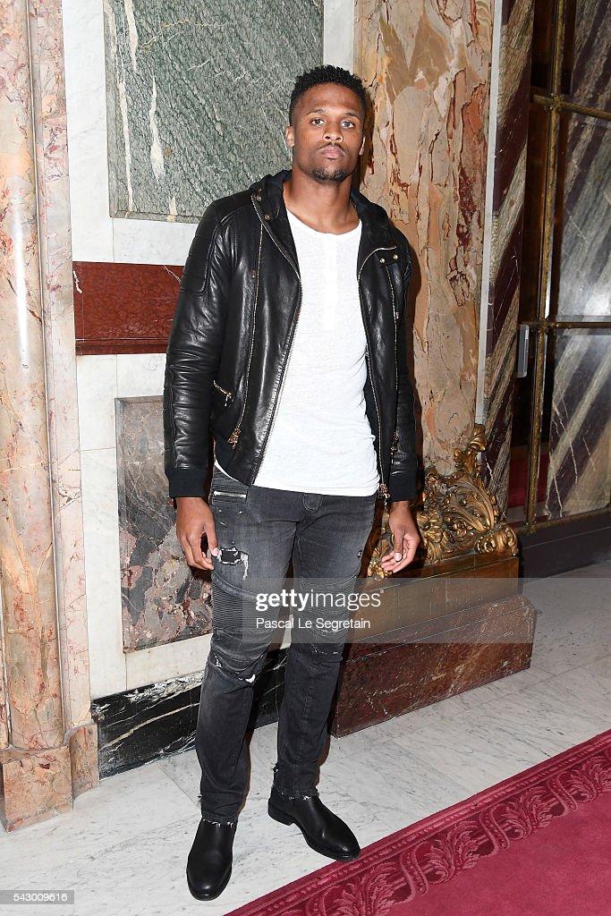 A guest attends the Balmain Menswear Spring/Summer 2017 show as part of Paris Fashion Week on June 25, 2016 in Paris, France.