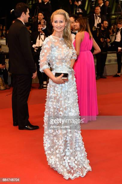 A guest attends the 'Blade Of The Immortal ' premiere during the 70th annual Cannes Film Festival at Palais des Festivals on May 18 2017 in Cannes...