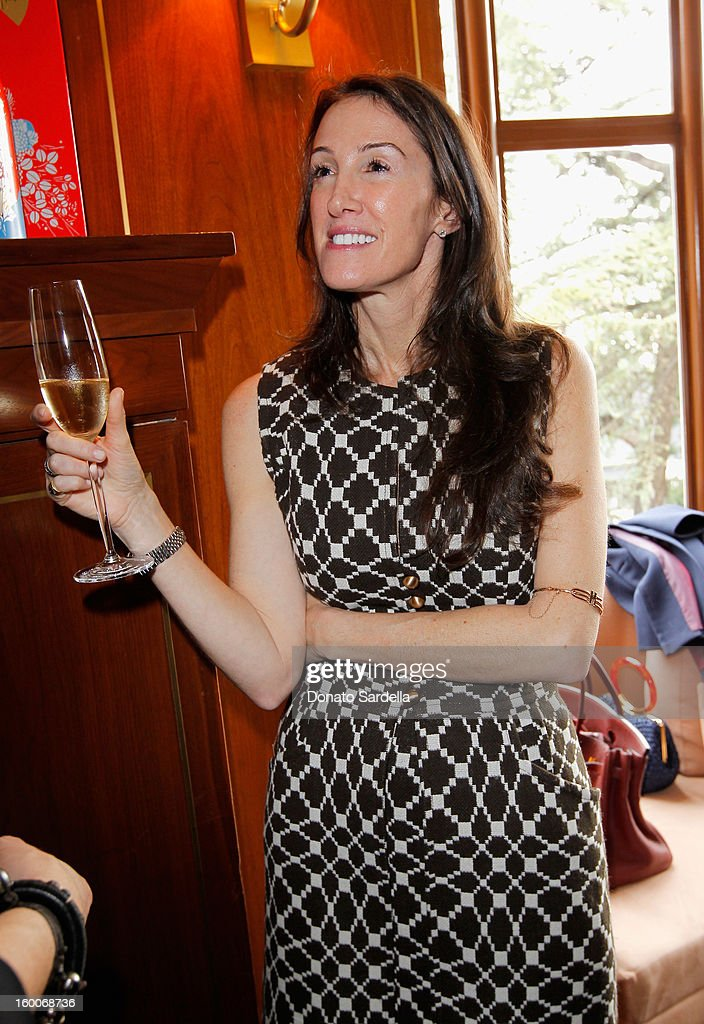 A guest attends the Champagne Taittinger Women in Hollywood Lunch hosted by Vitalie Taittinger at Sunset Tower on January 25, 2013 in West Hollywood, California.