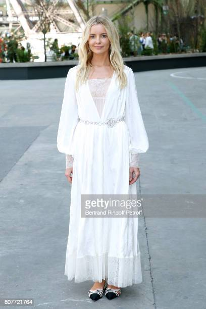 Guest attends the Chanel Haute Couture Fall/Winter 20172018 show as part of Haute Couture Paris Fashion Week on July 4 2017 in Paris France
