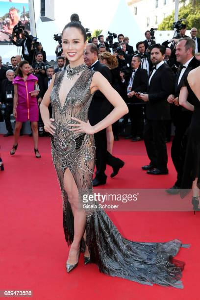 A guest attends the Closing Ceremony of the 70th annual Cannes Film Festival at Palais des Festivals on May 28 2017 in Cannes France