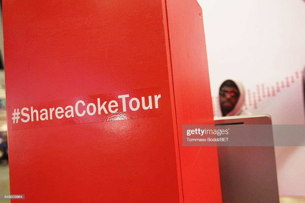 Guest attends the Coke music studio during the 2016 BET Experience on June 25, 2016 in Los Angeles, California.