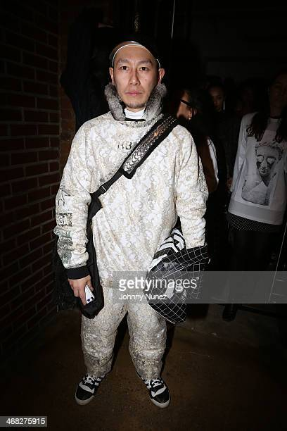 A guest attends the Daniel Arsham x Chris Stamp Presentation during MADE Fashion Week Fall 2014 at Milk Studios on February 9 2014 in New York City