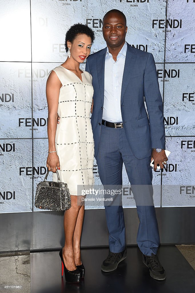 Guest attends the Fendi show during Milan Menswear Fashion Week Spring Summer 2015 on June 23, 2014 in Milan, Italy.