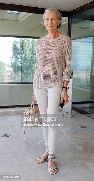 Guest attends the funeral for the Spanish designer Manuel Pertegaz on August 31 2014 in Barcelona Spain