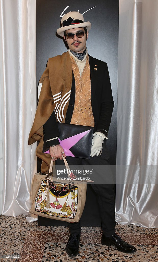 A guest attends the Giuseppe Zanotti Design Presentation during Milan Fashion Week Womenswear Fall/Winter 2013/14 on February 23, 2013 in Milan, Italy.