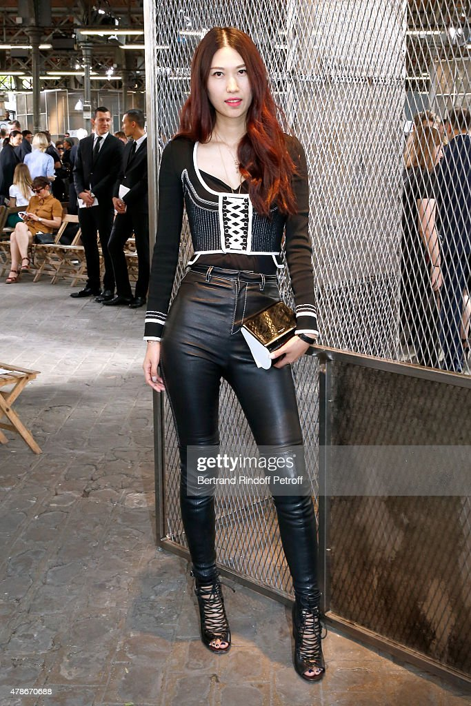 Guest attends the Givenchy Menswear Spring/Summer 2016 show as part of Paris Fashion Week on June 26, 2015 in Paris, France.