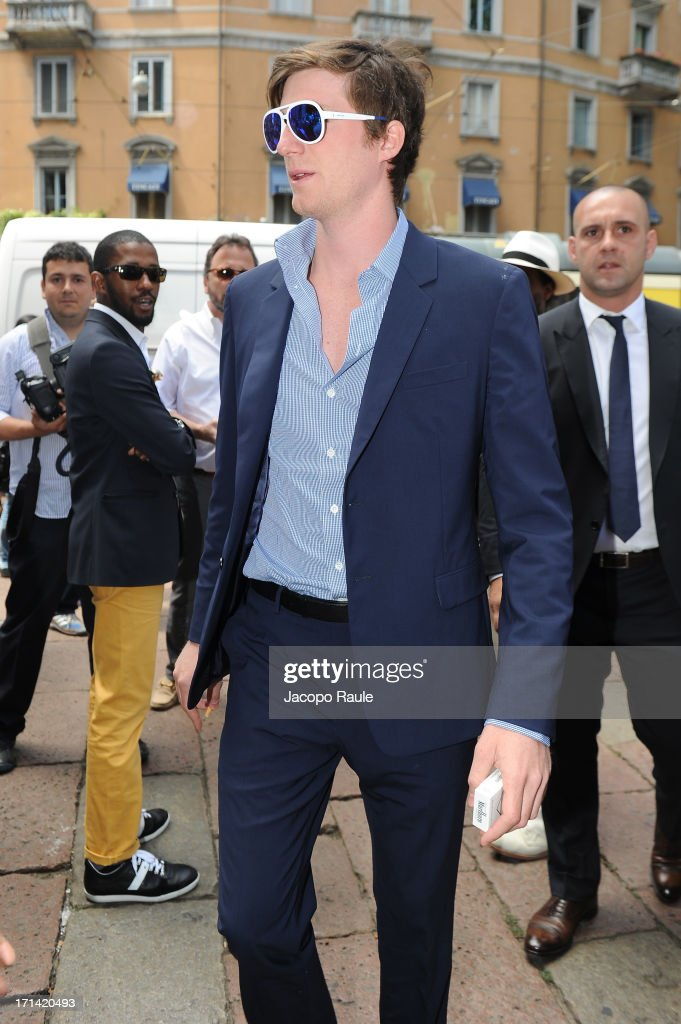 Guest attends the Gucci show during Milan Menswear Fashion Week Spring Summer 2014 show on June 24, 2013 in Milan, Italy.