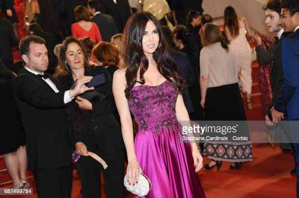 A guest attends the 'Hikari ' premiere during the 70th annual Cannes Film Festival at Palais des Festivals on May 23 2017 in Cannes France
