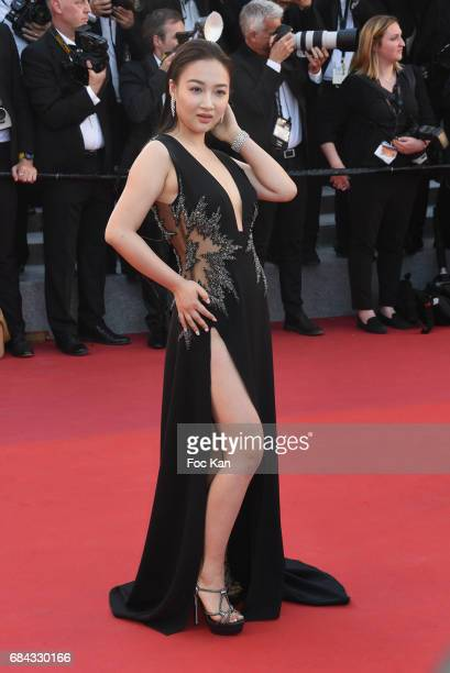 A guest attends the 'Ismael's Ghosts ' screening and Opening Gala during the 70th annual Cannes Film Festival at Palais des Festivals on May 17 2017...