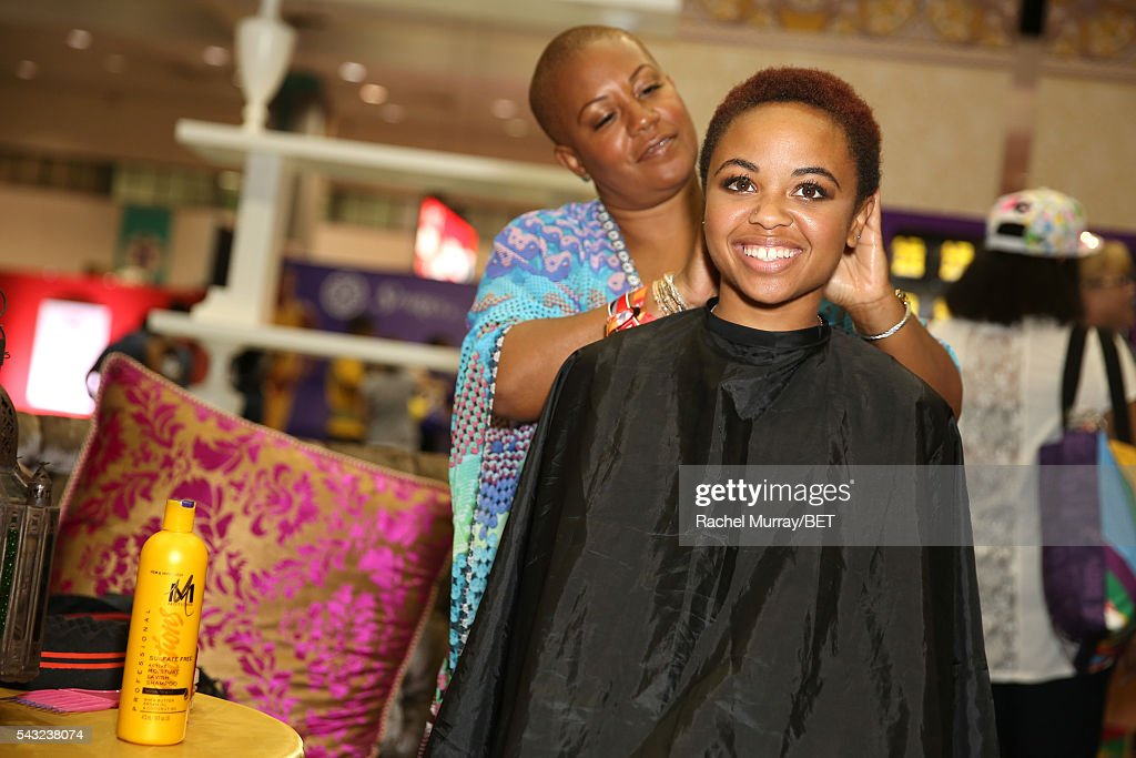 Guest attends the #It'sYourMove hair showcase powered by Motions during the 2016 BET Experience on June 26, 2016 in Los Angeles, California.